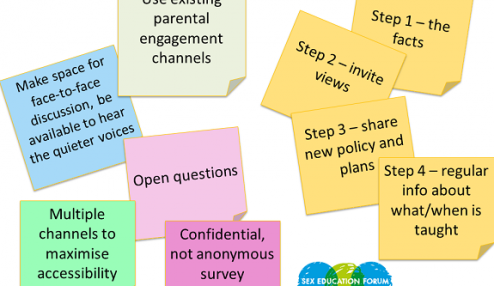 Parental engagement questions about RSE